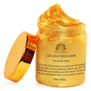 24  k Gold facial mask